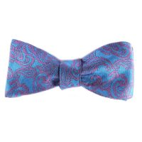 blue purple bowtie