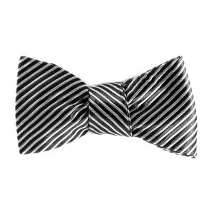 black and silver bowtie