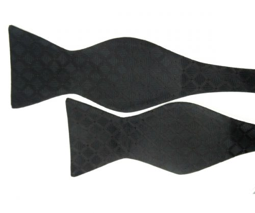 Black Diamond Pattern Bow Tie