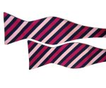 Pink Twin Stripe Bow Tie