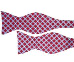 Red Diamond Pattern Bow Tie