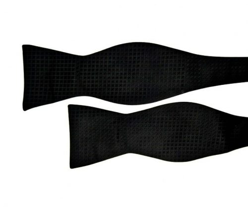 Black Bow Tie with Square and Circle Pattern