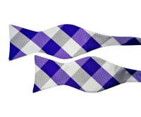 Purple and Silver Bow Tie