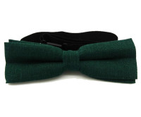 Forest Green Handmade Linen Bow Tie