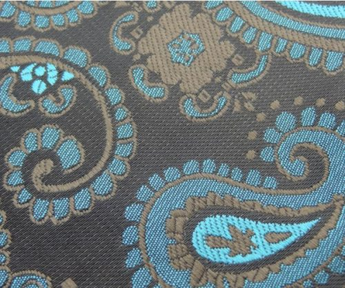 Teal Paisley Self Tie Bow Tie