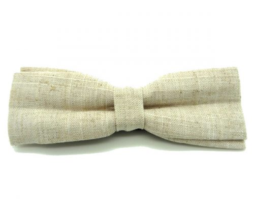 Natural Handmade Linen Bow Tie