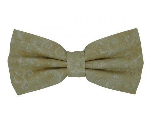 Ivory with White Pattern Bow Tie