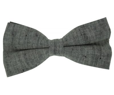Grey Solid Bow Tie