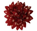 Red with White Polka Dots Carnation Lapel Pin