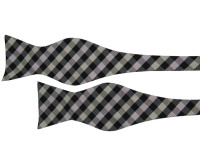 Black and White Check Patterned Bow Tie