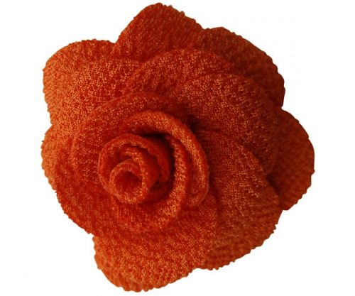 Orange Rose Lapel Pin