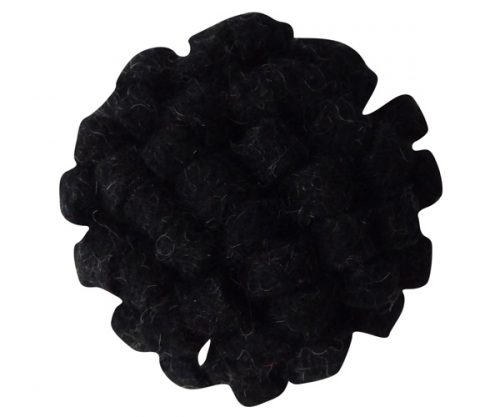Black Mimosa Lapel Pin