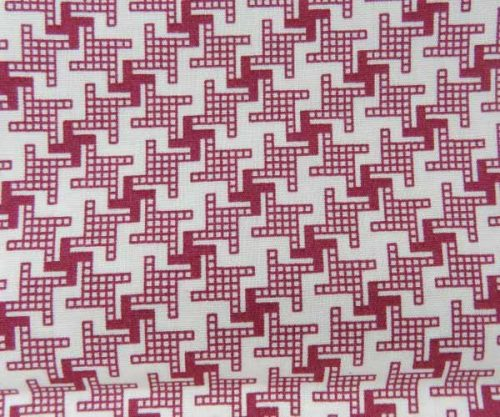Red Pattern Cotton Pocket Square
