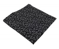 Black Flourish Cotton Pocket Square