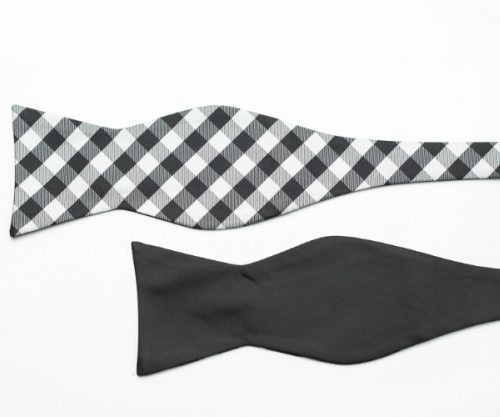 Black and White Double Sided Bow Tie