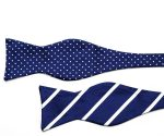 Business Blue Double Sided Bow Tie