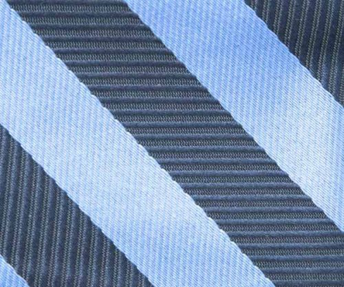 Blue Classic Stripe Self Tie Bow Tie