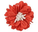 Burnt Orange Dahlia Lapel Pin