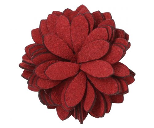 Crimson Red Chrysanthemum Lapel Pin