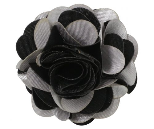 Black and Silver Burst Lapel Pin