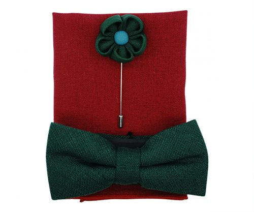 Mistletoe Green Mens Bow Tie Gift pack